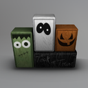 Halloween Mesh Wooden Blocks (Small)