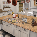 White Mesh Interactive Kitchen
