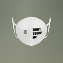 White Social Distancing Mesh Face Mask