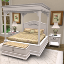 White Corbel Bedroom Set